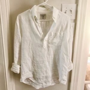 Abercrombie & Fitch White Linen Shirt